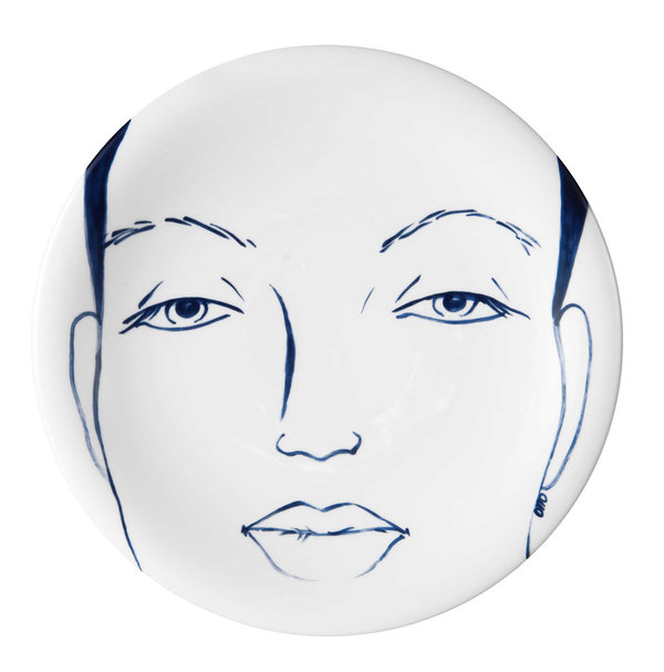 "MEISSEN Wandteller Faces ""Carla"""