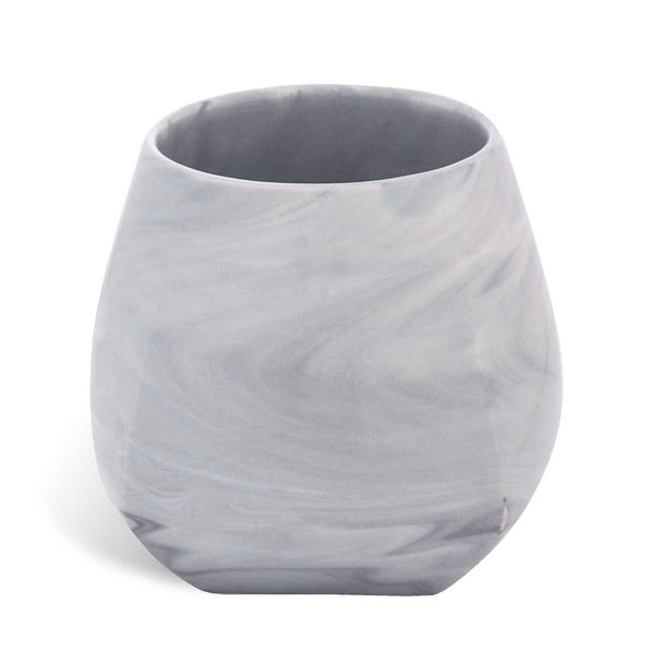 "MEISSEN Becher ""Antarctica"", marmoriert light grey"