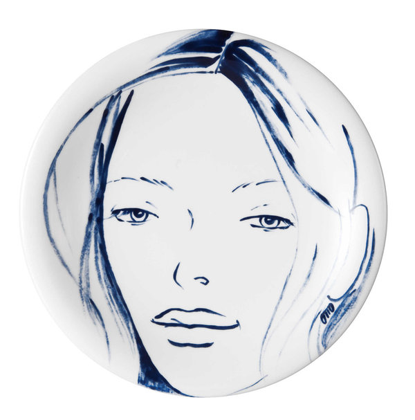 "MEISSEN Wandteller Faces ""Cloe"""
