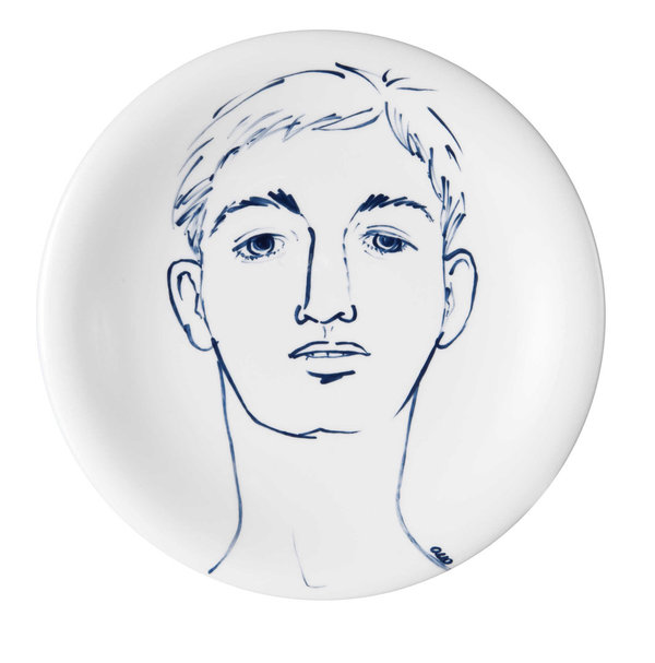 "MEISSEN Wandteller Faces ""Nicky"""